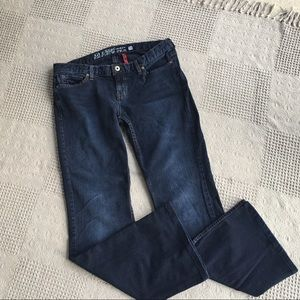 Guess Indigo Flare Leg Low Rise Stretch Jeans 31